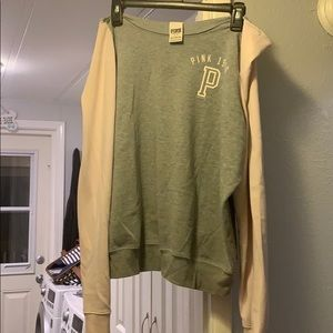 Pink off the shoulder sweater 3 for $13